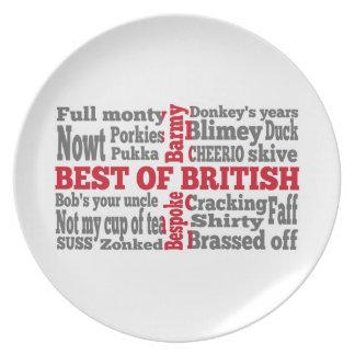 English slang on the St George s Cross flag Plate