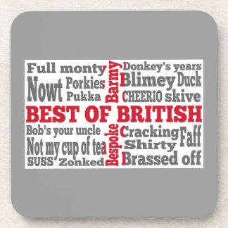 English slang on the St George's Cross flag Beverage Coaster