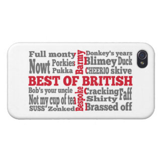 English slang on the St George's Cross flag Case For iPhone 4