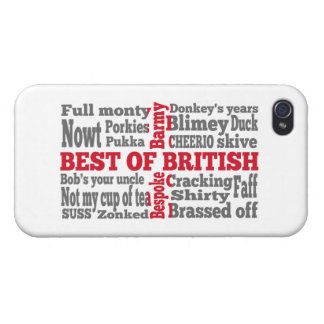English slang on the St George's Cross flag iPhone 4/4S Case
