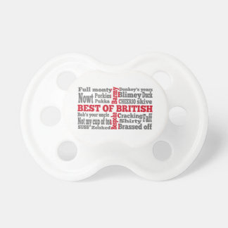 English slang on the St George's Cross flag Baby Pacifier