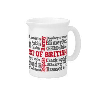 English slang on the St George's Cross flag Pitcher