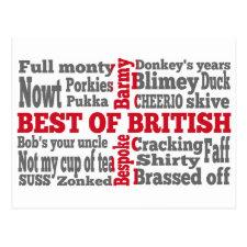 English slang on the St George's Cross flag Post Card