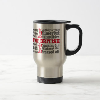 English slang on the St George's Cross flag Travel Mug