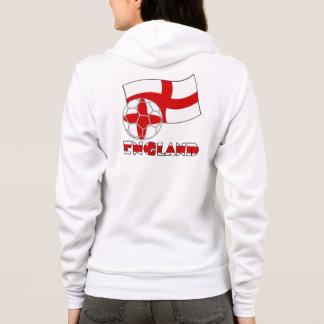 English Soccer Ball and Flag Hoodie