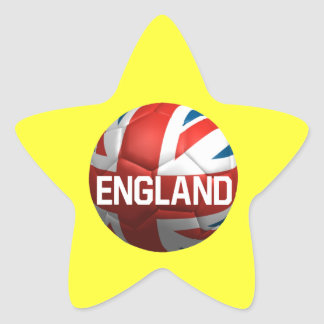 English Soccer Ball Star Sticker
