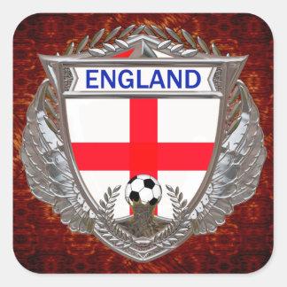 English Soccer Square Sticker