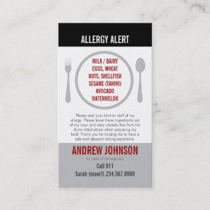 English/Spanish Bilingual Allergy Alert Card