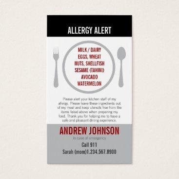 mistyqe English/Spanish Bilingual Allergy Alert Card