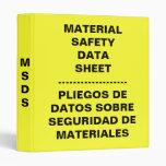 English Spanish MSDS Binder