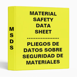 English Spanish MSDS Binder