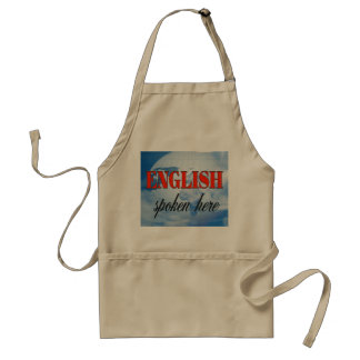 English spoken here cloudy earth adult apron