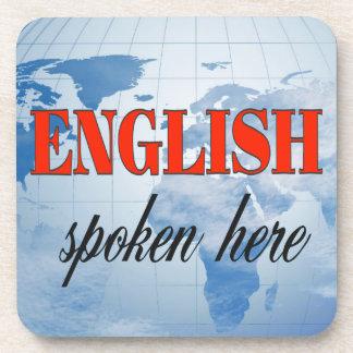 English spoken here cloudy earth coaster