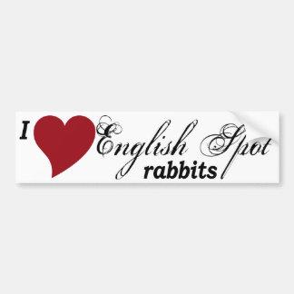 English Spot rabbits Bumper Sticker
