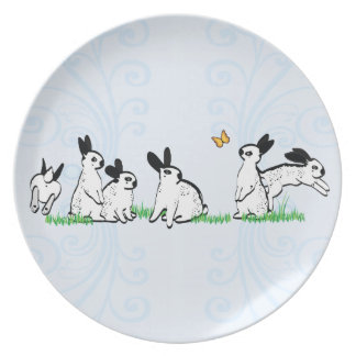 ENGLISH SPOTS IN THE GRASS DINNER PLATE