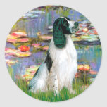 English Springer 7 - Lilies 2 Round Stickers