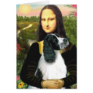 English Springer 7 - Mona Lisa Greeting Cards