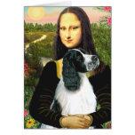 English Springer 7 - Mona Lisa Greeting Card
