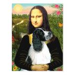 English Springer 7 - Mona Lisa Postcard