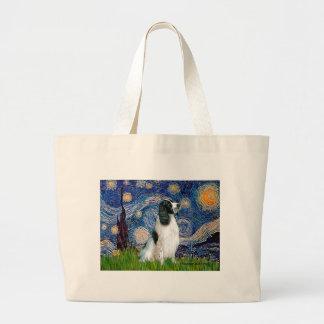 English Springer 7 - Starry Night Large Tote Bag