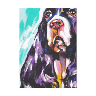 English Springer Bright Colorful Pop Dog Art Canvas Print