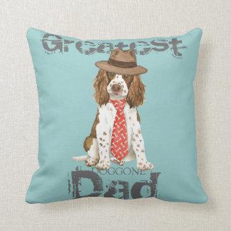 English Springer Dad Throw Pillow