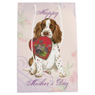 English Springer Heart Mom Medium Gift Bag