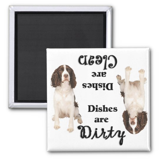 English Springer Lovers Dishwasher Magnet