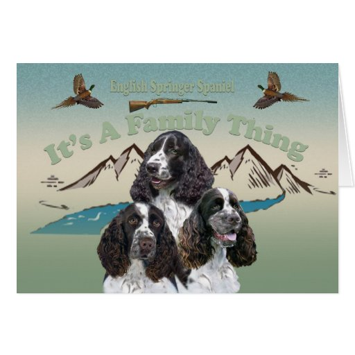 English Springer Spaniel A Family Thing cards