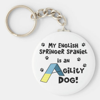 English Springer Spaniel Agility Dog Keychain