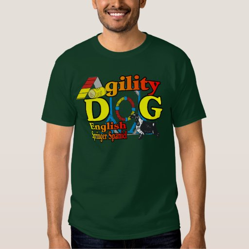 English Springer Spaniel Agility Gifts Tee Shirt
