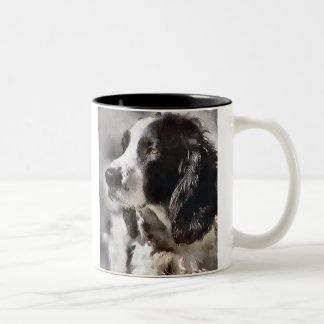 English Springer Spaniel Art Gifts Two-Tone Coffee Mug