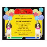 English Springer Spaniel Birthday Barker 4.25x5.5 Paper Invitation Card