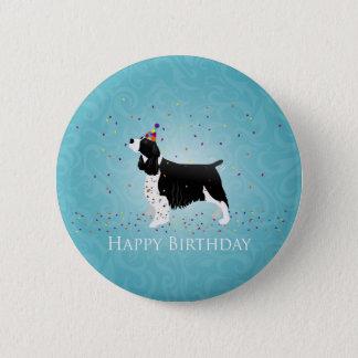 English Springer Spaniel Birthday Design. Button