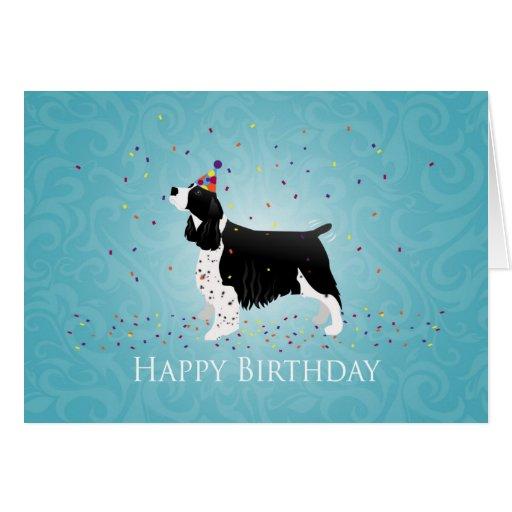 English Springer Spaniel Birthday Design. Card