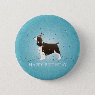 English Springer Spaniel Birthday Design Pinback Button