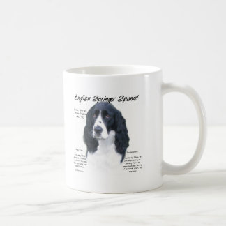 English Springer Spaniel (blk) History Design Coffee Mug
