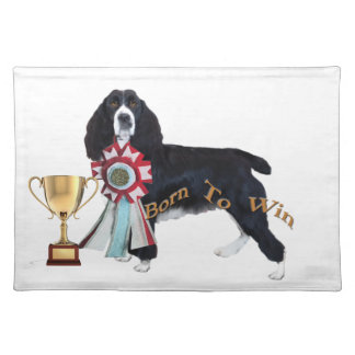 English Springer Spaniel Born To Win Placemat