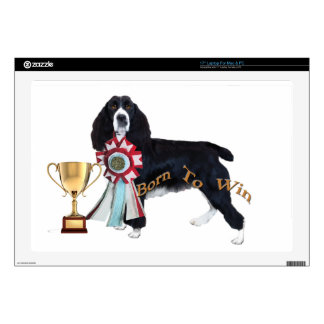 "English Springer Spaniel Born To Win 17"" Laptop Decal"