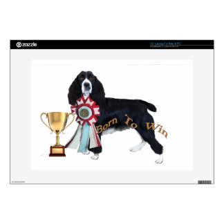 English Springer Spaniel Born To Win Decal For Laptop