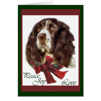 English Springer Spaniel Christmas Gifts Card