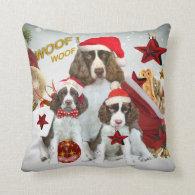 English Springer Spaniel Christmas Pillow