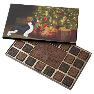 English Springer Spaniel Christmas Tree Chocolates 45 Piece Assorted Chocolate Box