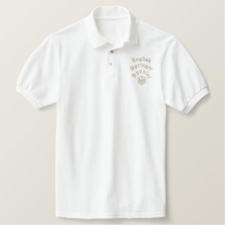 English Springer Spaniel Dad Gifts Embroidered Polo Shirt
