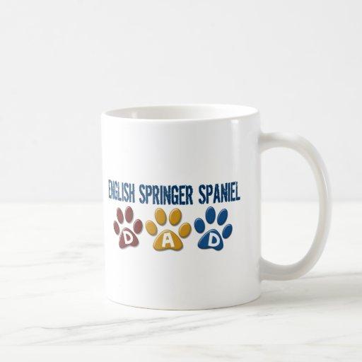 ENGLISH SPRINGER SPANIEL Dad Paw Print 1 Mugs