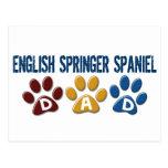 ENGLISH SPRINGER SPANIEL Dad Paw Print 1 Post Cards