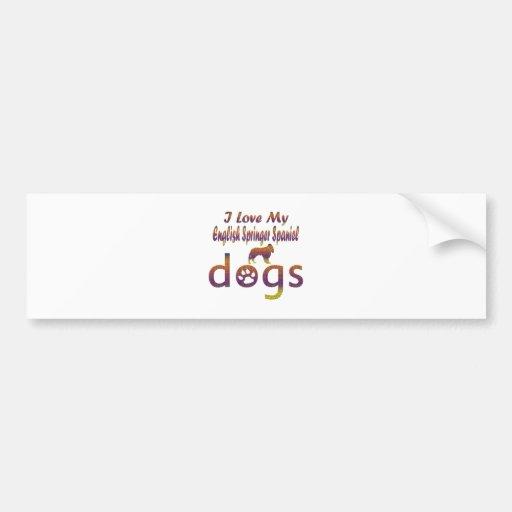 English Springer Spaniel designs Bumper Stickers