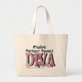 English Springer Spaniel DIVA Jumbo Tote Bag