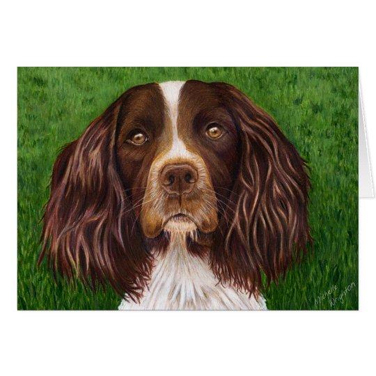 English Springer Spaniel Dog Art - Major Card