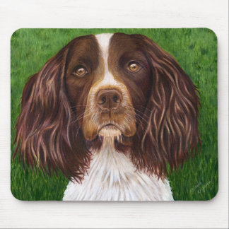 English Springer Spaniel Dog Art - Major Mouse Pads